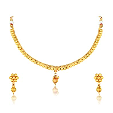 35f886d8c62eb7 Meenaz Jewellery Traditional One Gram Bridal Sarees Kundan Pearl Gold Plated  Pendant Necklace Set/Jewellery