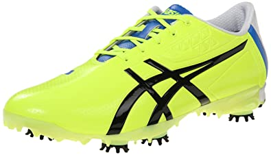 ASICS Men's Gel Ace Pro Light Golf Shoe, Flash Yellow/Black/Blue,