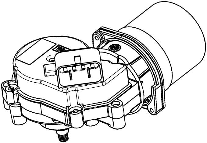 amazon com: acdelco 88958251 gm original equipment windshield wiper motor,  n/a in: automotive