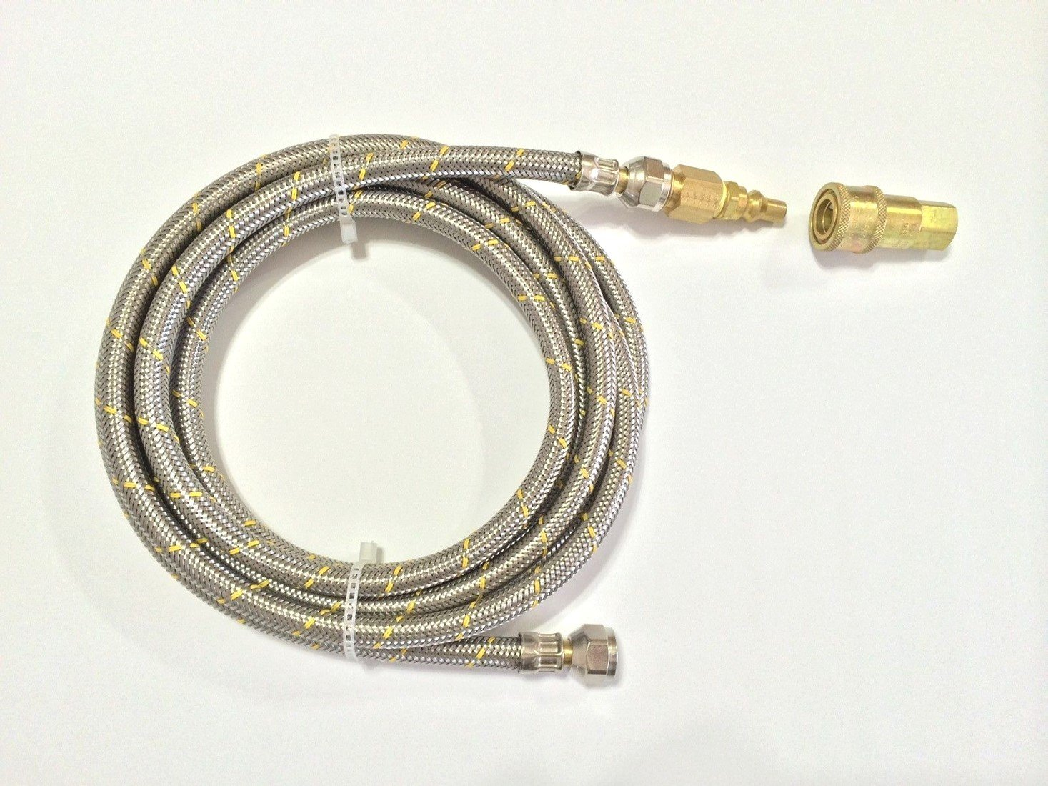 Camper Parts- RV Motorhome LP Gas 10ft Quick Connect Stainless Steel Braided Hose Grill BBQ by Getza
