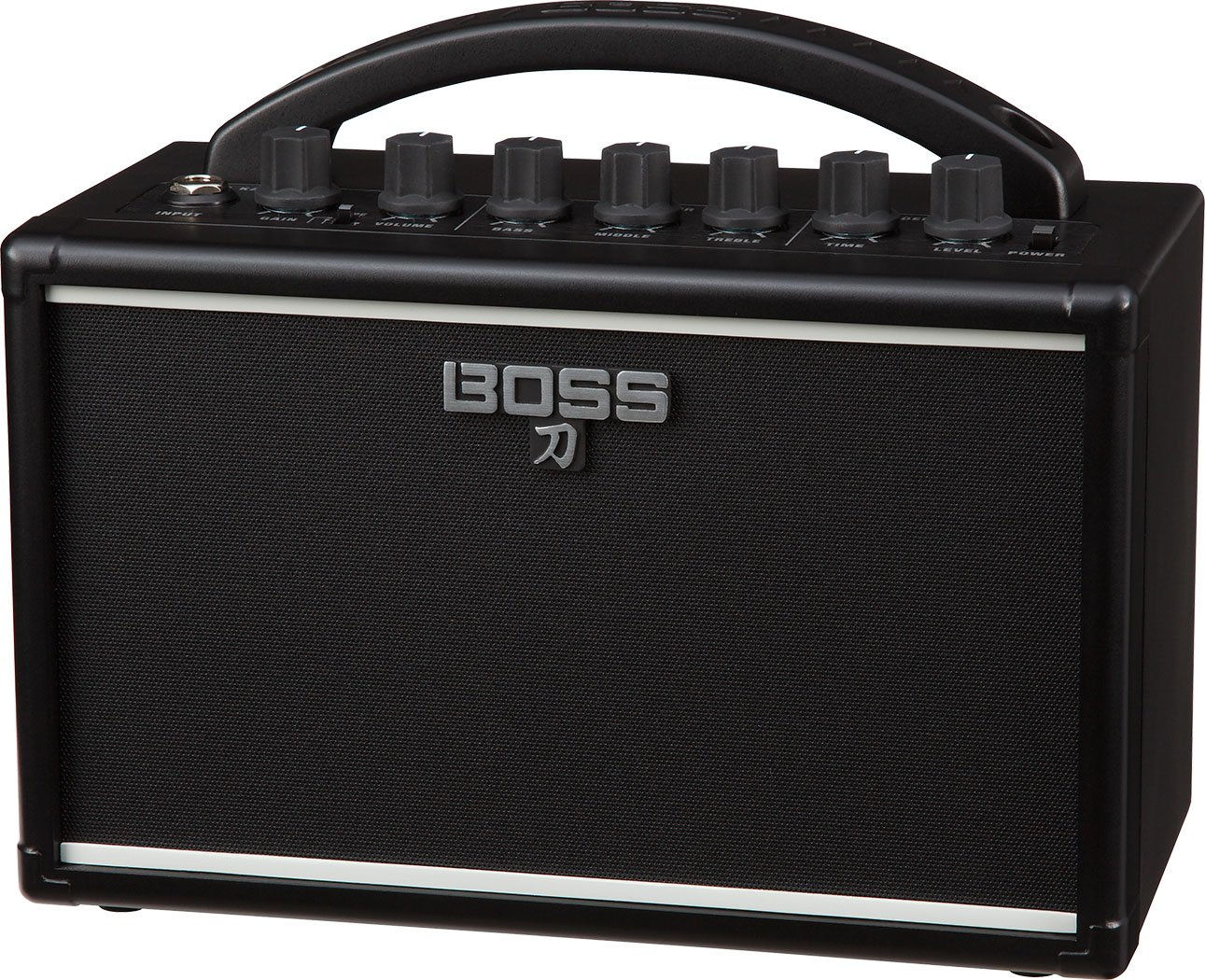 BOSS Katana Mini Guitar Amplifier Bundle with Hosa 5-FT Straight Instrument Cable (1/4in), Blucoil Slim 9V Power Supply AC Adapter, 2-Pack of Pedal Patch Cables and 4-Pack of Celluloid Guitar Picks by blucoil (Image #2)