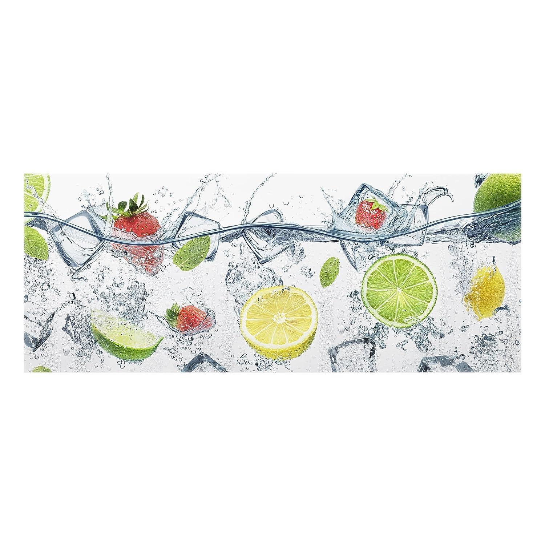 Bilderwelten Crédence en verre - Fruit Cocktail - Panorama, peinture murale revetement mural cuisine dosseret de cuisine impression sur verre fond de cuisine, Dimension: 40cm x 100cm PPS. Imaging GmbH