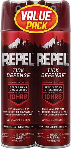 REPEL Tick Defense Unscented Aerosol Spray (Case Pack of 2)