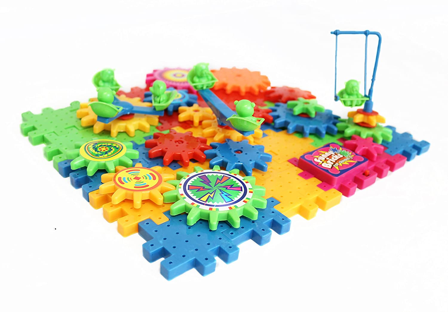 Educational Toy Gear Set - Fine Motor Skills Toys - Educational Toys for Preschool - Best Plastic Building Gears - Early Education Fine Motor Skill Development Review