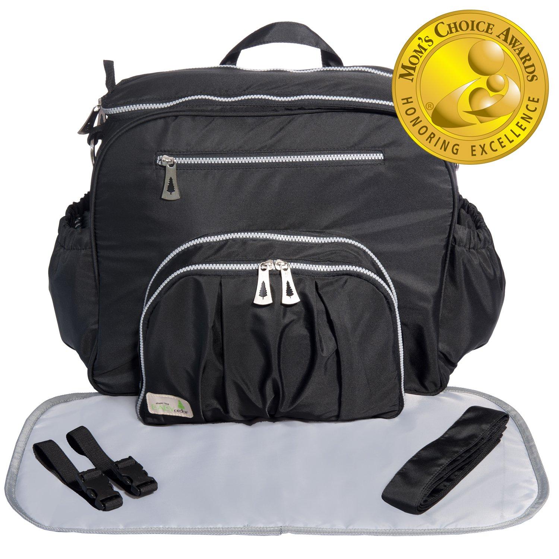 83b193b70ca Amazon.com   Baby Cedar Diaper Bag Backpack for Mom. Large Baby  Multi-Function Bag. Baby Bag. (Dark Black)   Baby