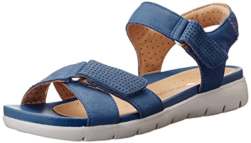 7be8adb7c16 Clarks Women s Un Saffron Blue Leather Flip-Flops Other - House Slippers -  3.5 UK
