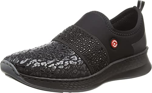 Rieker N5651 Damen Sneaker, Slipper, Slip On, Halbschuhe