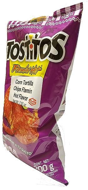Amazon.com: Sabritas Mexican Chips Large Bag (3-pack) (Botanas Mexicanas Bolsa Grande) ((3-Pack) Tostitos Flamin Hot 7.07 oz)