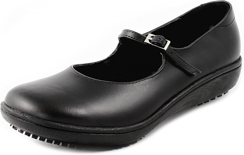 Shoes for Crews Sandales Style Mary Janes pour Femme Noir Noir