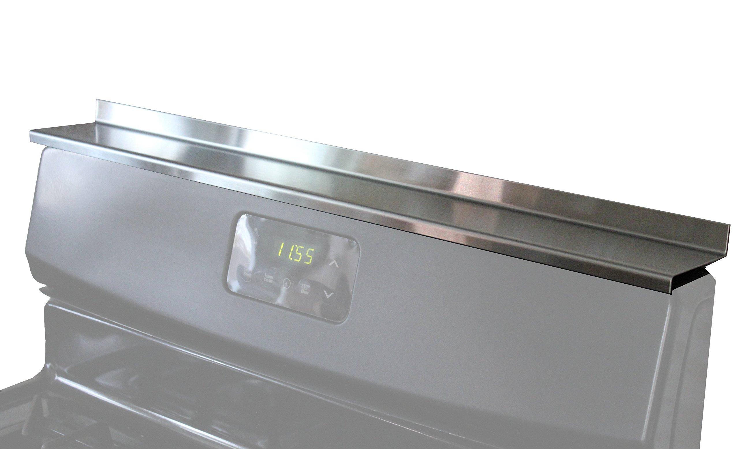 StoveShelf - Stainless Steel - 20'' - Magnetic Shelf for Apartment Kitchen Stove, Spice Rack, Kitchen Storage Solution, Zero Installation by STOVE SHELF