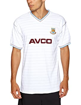 7ef79d38a6a Score Draw Official Retro West Ham United 1986 Away Men's Football Shirt -  White, Small