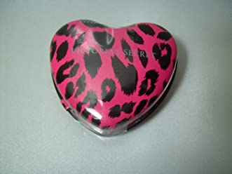 Victorias Secret Sugar Free Cinnamints In Pink Animal Print Heart Shaped Tin 17g/.6oz