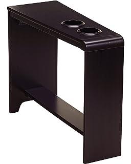 Ashley Furniture Signature Design   Hatsuko Chairside End Table    Rectangular   Espresso