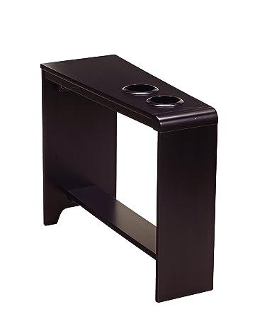 Ashley Furniture Signature Design   Hatsuko Chairside End Table    Rectangular   EspressoAmazon com  Ashley Furniture Signature Design   Hatsuko Chairside  . Ashley Furniture Laflorn Chairside End Table. Home Design Ideas