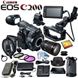 Canon EOS C200 EF Cinema Camera and 24-105mm Lens Kit with 32GB CF Card and more