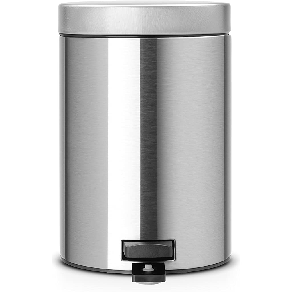 Brabantia 3 Litre Classic Pedal Bin - Matt Steel Fingerprint Proof