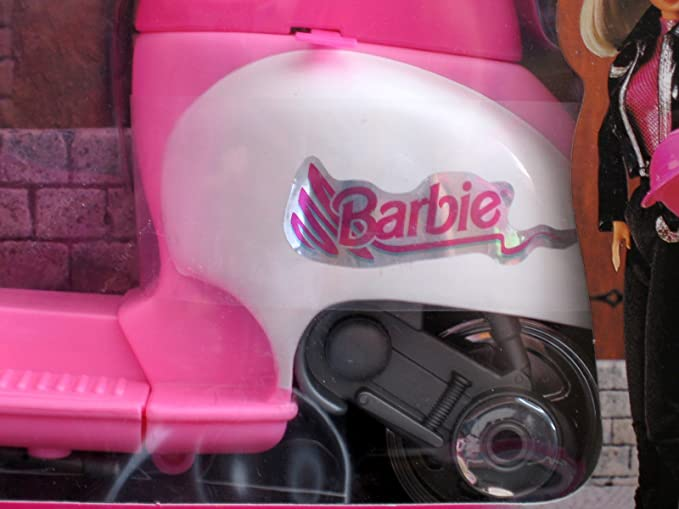 Amazon.com: Barbie Motor Scooter (1997 arcotoys, Mattel ...