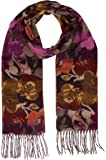 Accessories First Floral Scarf - Fashionable Womens Acrylic Woven Scarf with Twisted Fringes