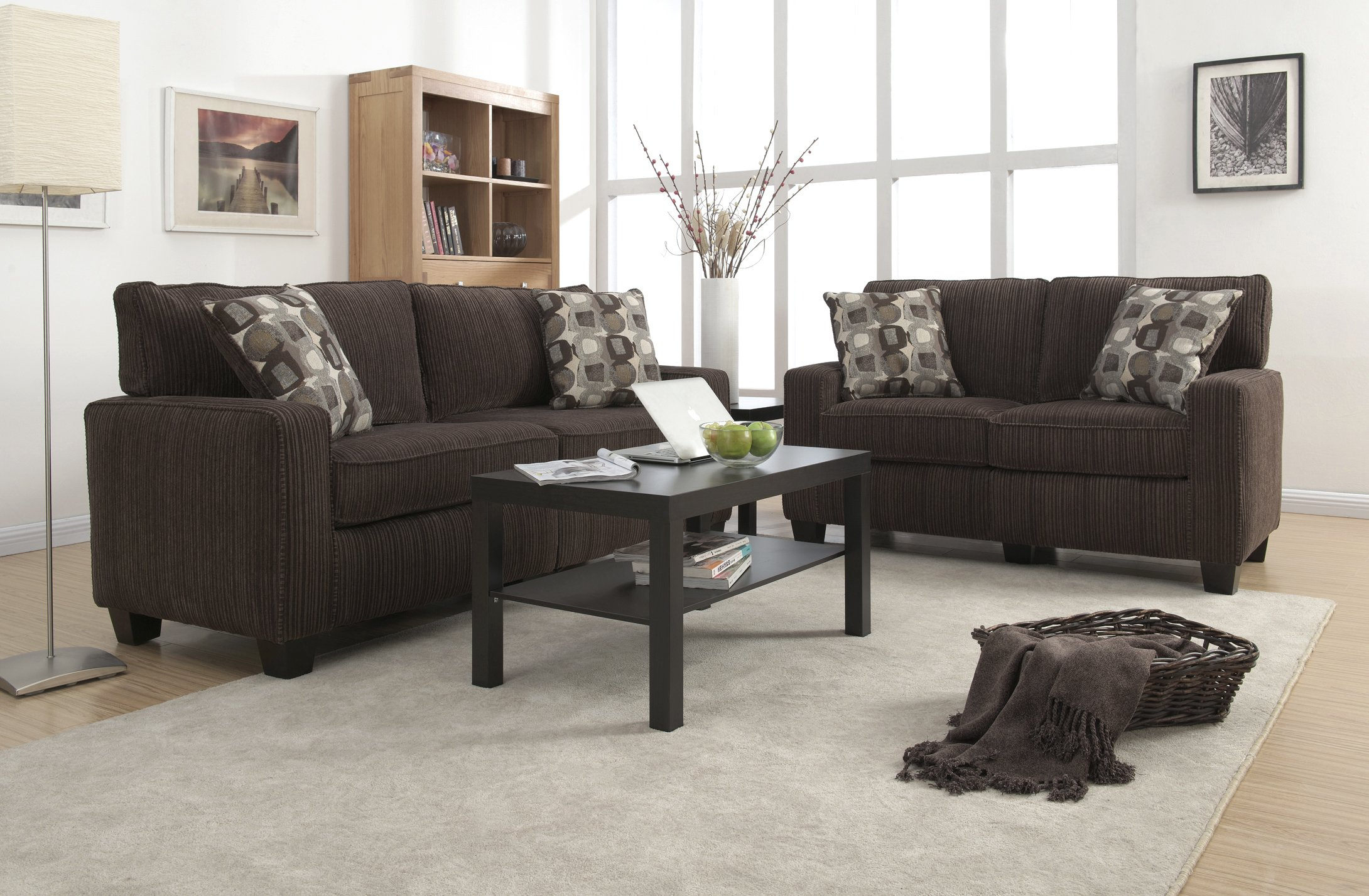 Serta RTA Palisades Collection 61'' Loveseat in Riverfront Brown by Serta (Image #3)