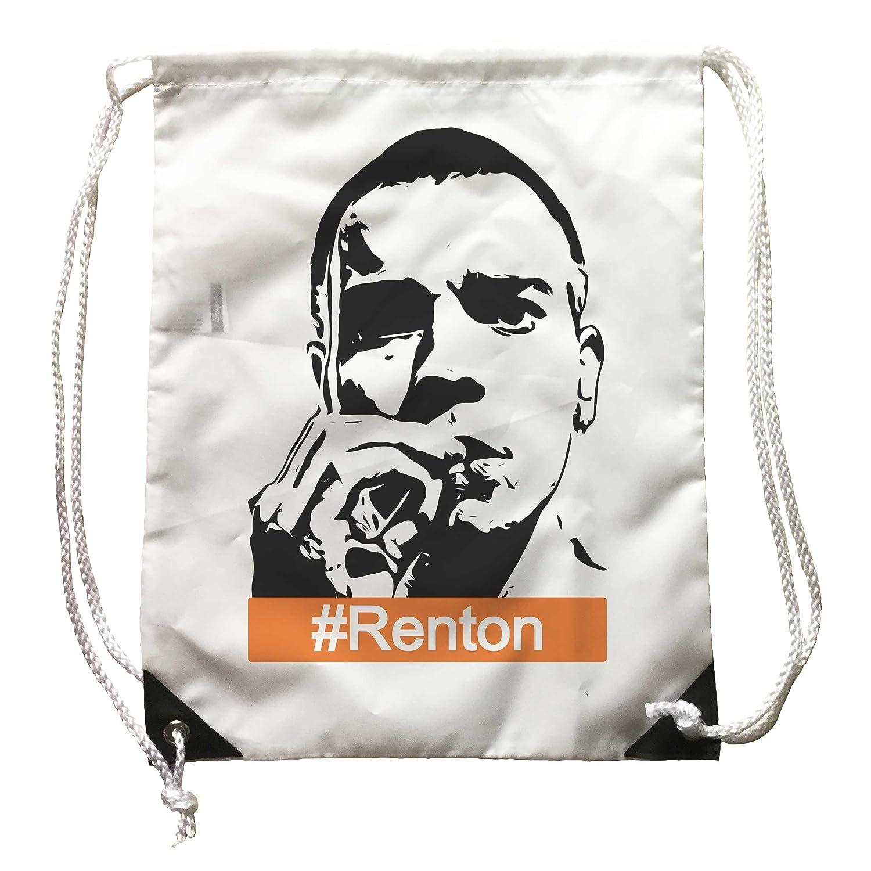 sac à dos Trainspotting Renton, sac à dos blanc, Oeuvre Cinéma, Film, Cult Movie DMS11123