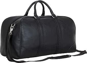 """Ben Sherman 20"""" Vegan Leather Travel Duffel Bag Top Zip Weekender Carry-On Duffle Luggage"""