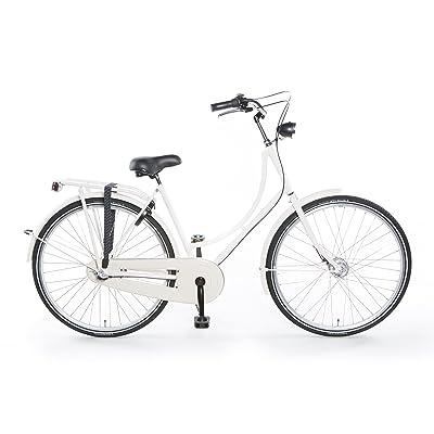 """TULIPBIKES, le vélo Hollandais original et unique """"Tulip 2"""", blanc, 7 vitesses Shimano, hauteur de cadre 56cm"""