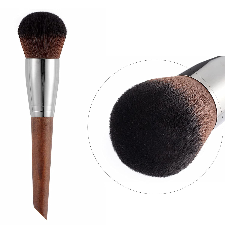 CLOTHOBEAUTY Deluxe Charcoal Fiber Cosmetics Brush set, 6 Pcs Brushes with Brush Pouch,Foundation Blending/Powder/Blush/Contour/Concealers Eye Shadows Makeup Brush kits set ltd