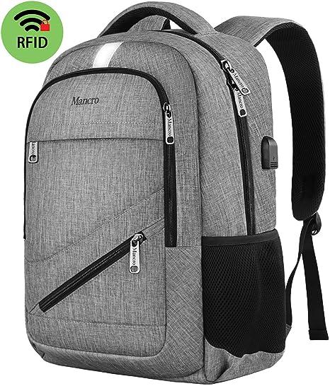 Mens Anti-Theft Backpack USB Charging Port Rucksack Laptop School Business Bag