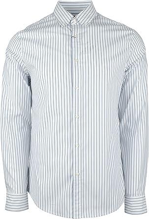 Michael Kors Camisa a Rayas con Botones, Ajustada, para Hombre: Amazon.es: Ropa y accesorios