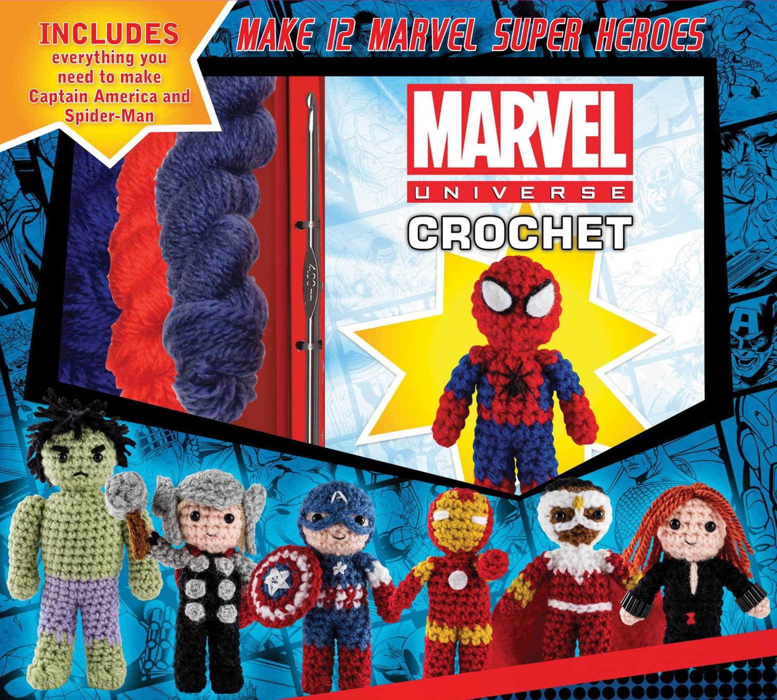Marvel Universe Crochet (Crochet Kits): Kati Galusz: 9781626866553 ...