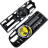 Heart Horse Front Bumper Grill for VW Mk4 Golf GTI 1998-2004 with LED Fog Lamp Day Running Light