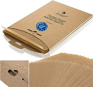 ZeZaZu Unbleached Parchment Paper Squares 14 x 14 cm Made in Eur 1000 Sheets