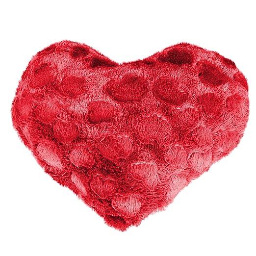 Cojín Corazón, imitación 40 x 40 Coline rojo: Amazon.es: Hogar