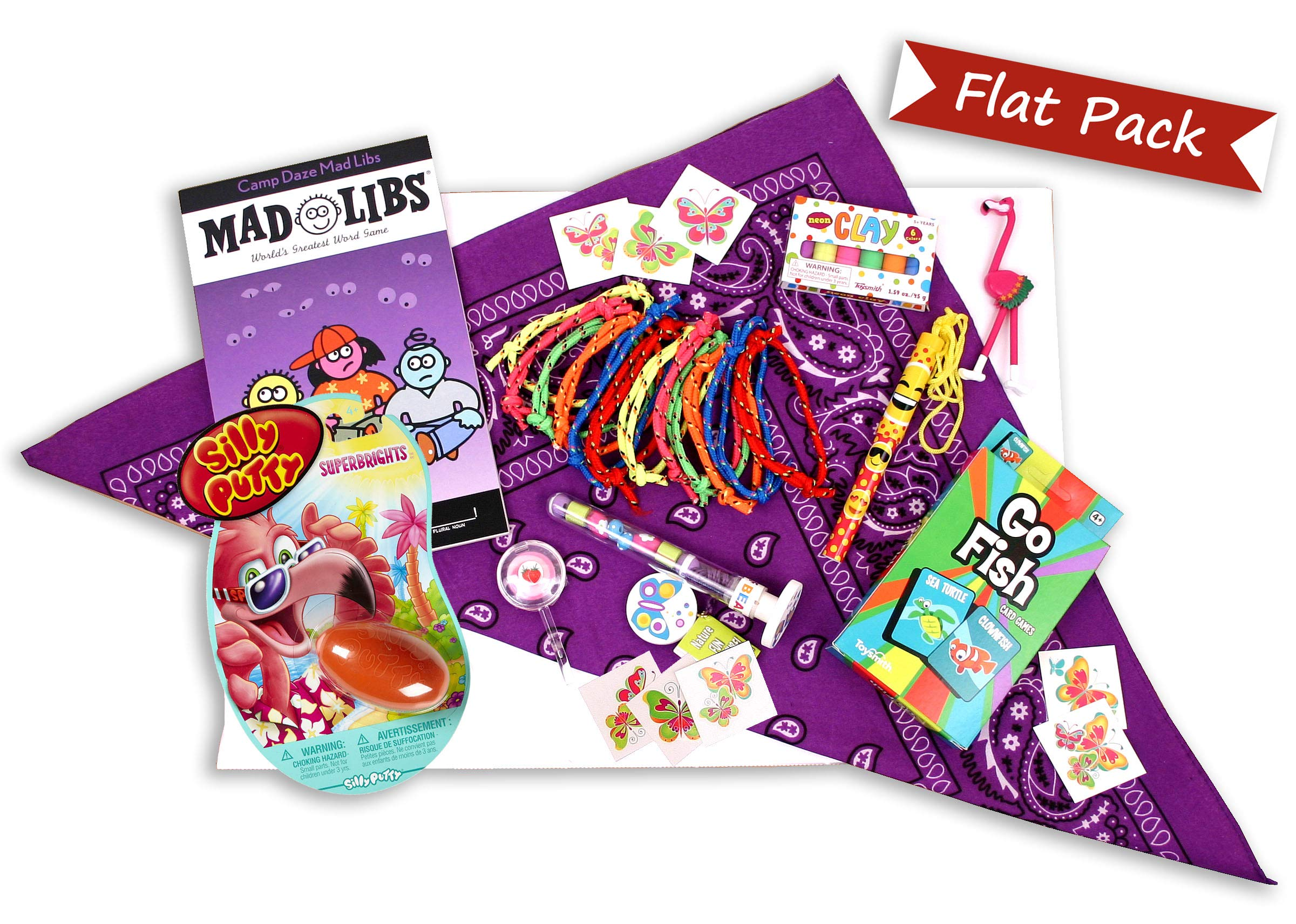 Beyond Bookmarks Girl's Flat Pack - Summer Camp Care Package or Birthday Gift