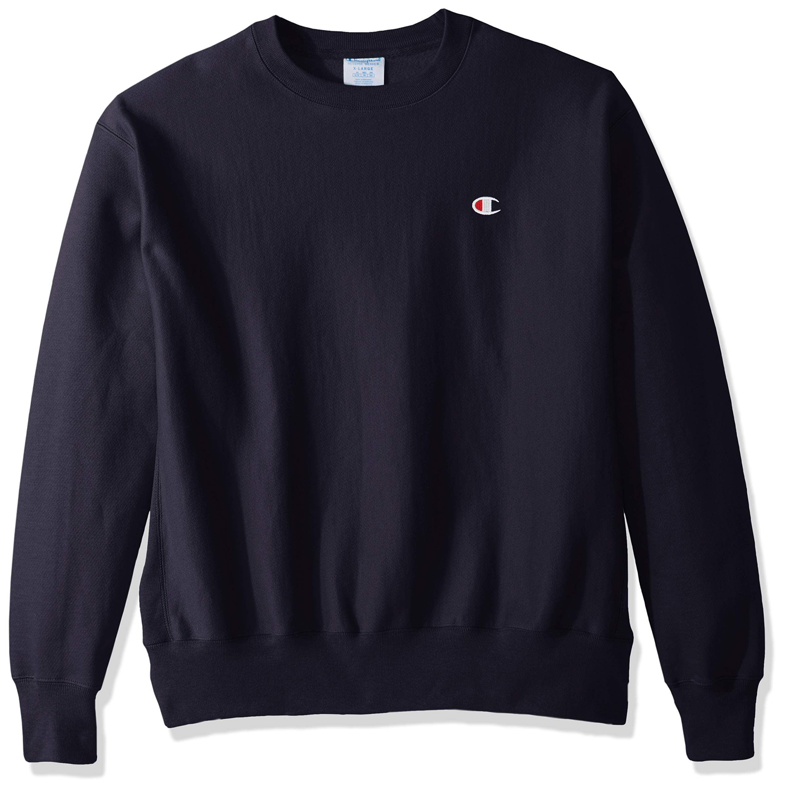 Champion LIFE Men's Reverse Weave Sweatshirt,Navy/Left Chest C Logo,X Small