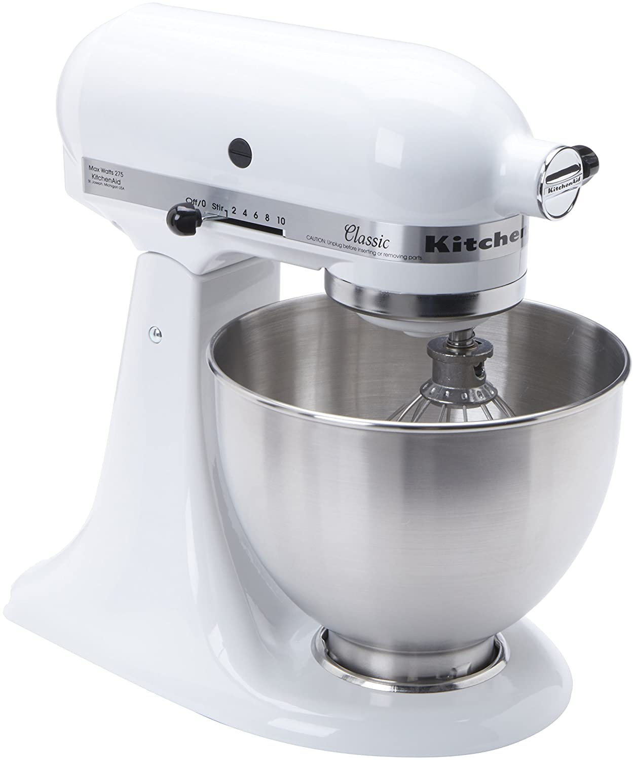 Kitchen aid heavy duty - Amazon Com Kitchenaid Classic K45sswh 250 Watt 4 1 2 Quart Tilt Head Stand Mixer White Electric Stand Mixers Kitchen Dining