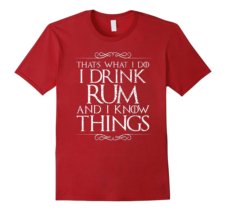 Drink Know Things T Shirt Black-Awarplus