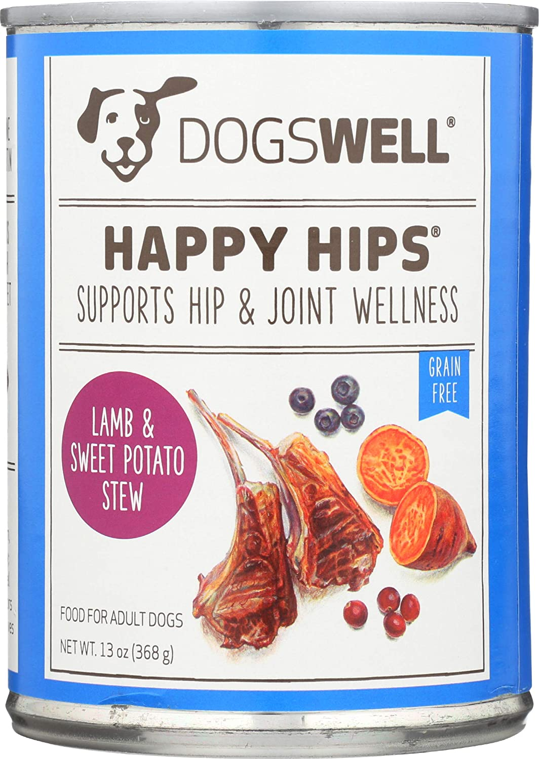 Dogswell, Happy Hips, Canned Food, Lamb & Sweet Potato, 13 oz