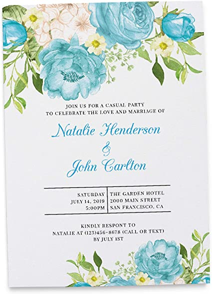 Amazon Com Rustic Elopement Reception Invitation Ideas Marriage Reception Announcement Wedding Party Celebration Amazing Invitation Set Envelopes Included Custom Personalized Cardstock Set Of 20 Health Personal Care