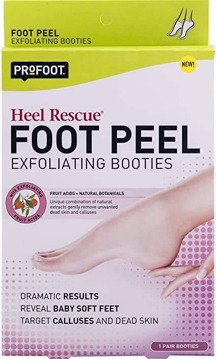 Amazon Com Profoot Heel Rescue Foot Peel Exfoliating Booties 1