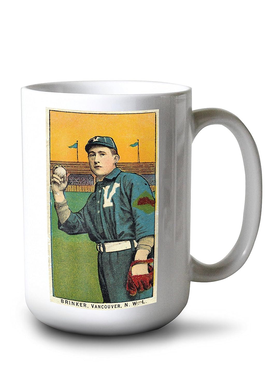 バンクーバーNorthwestern League – Brinker – 野球カード 15oz Mug LANT-3P-15OZ-WHT-23642 15oz Mug  B077RYY6WF