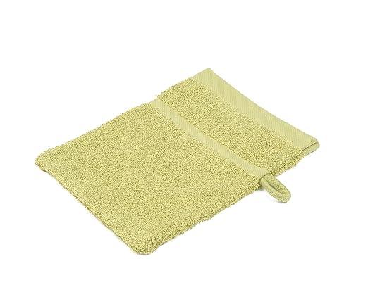 Gözze Manopla de baño, algodón Rizado, limón, 16 x 21 cm: Amazon.es: Hogar