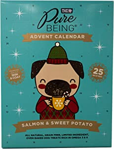 Heart to Tail Pure Being Dog Advent Calendar with Salmon and Sweet Potato Treats