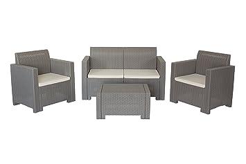 Conjunto de muebles para jardín y exterior Nebraska Gris ...