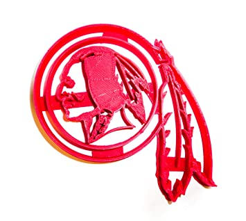 """WASHINGTON REDSKINS NFL FOOTBALL LOGO SPECIAL OCCASION FONDANT STAMP CUTTER OR CUPCAKE TOPPER SIZE 1.75"""""""