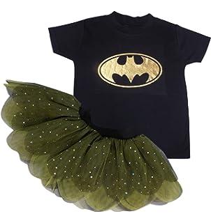1cb3b1628a465 Honey B's Kids Bat Girl Fancy Dress Tutu Skirt T Shirt Baby Grow Metallic  Design