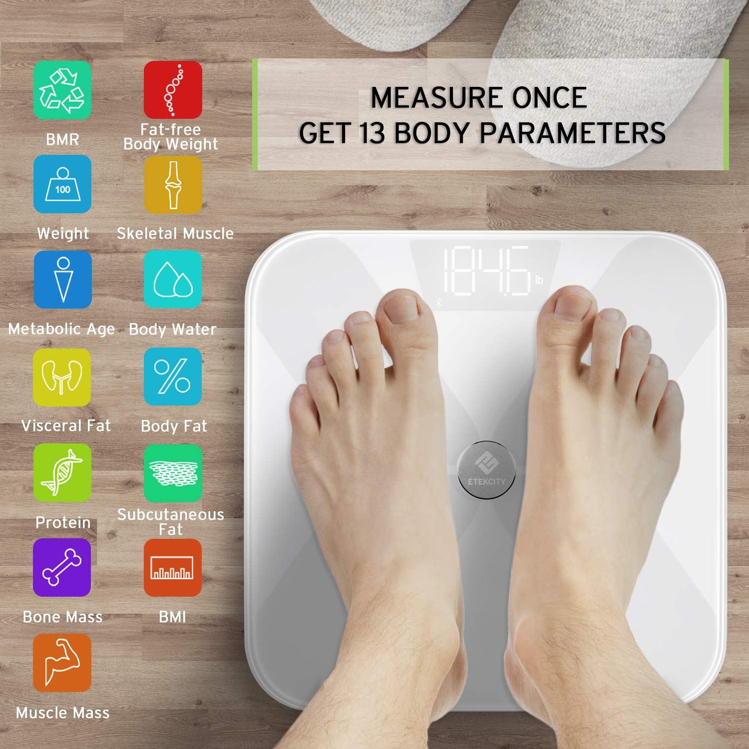 etekcity smart weight scale fda approved bluethooth digital body