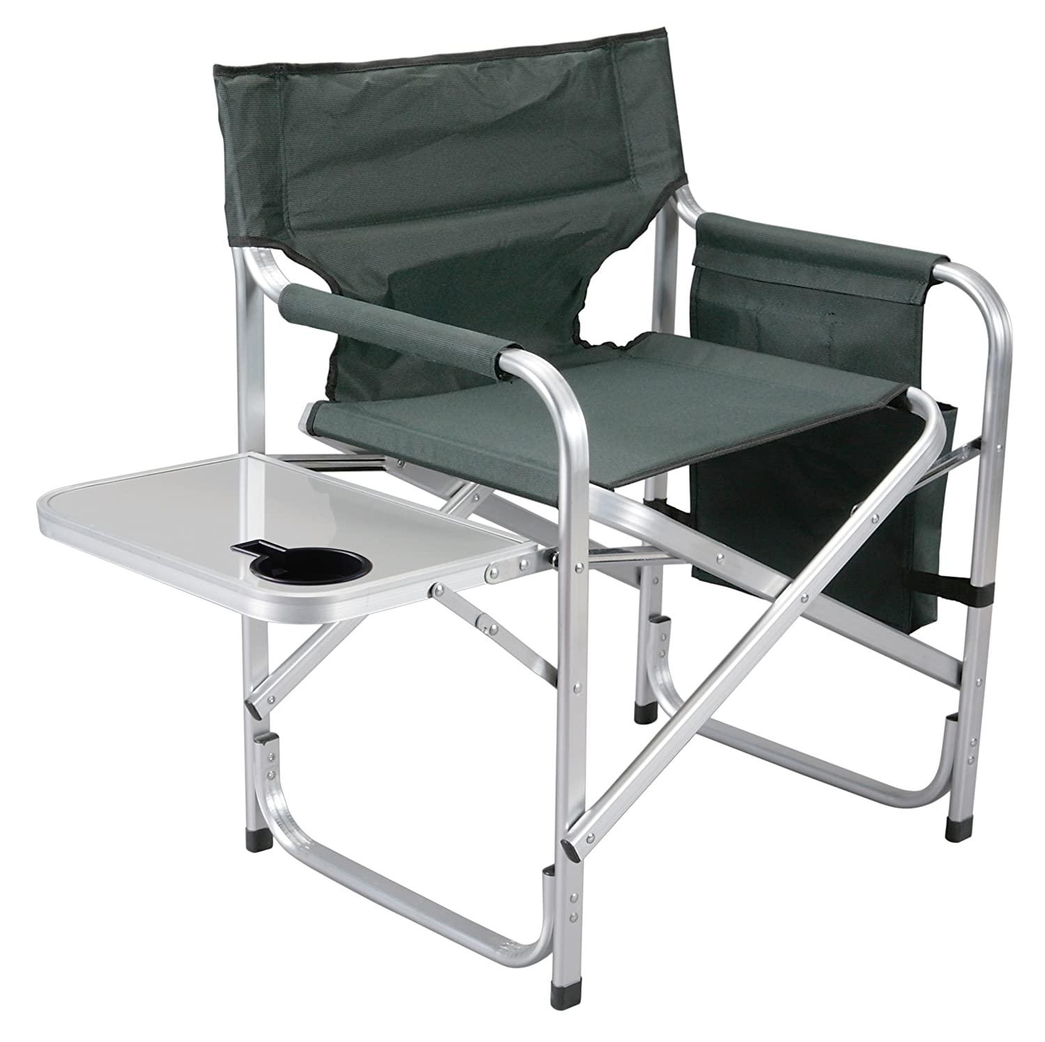 Faulkner Aluminum Director Chair with Folding Tray and Cup Holder