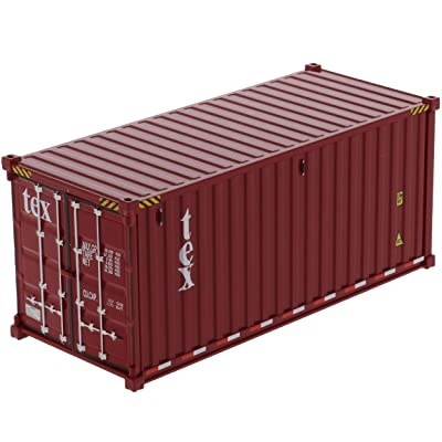 20' Dry Goods Sea Container TEX Burgundy Transport Series 1/50 Model by Diecast Masters 91025 A: Toys & Games