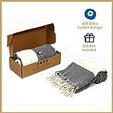 %100 cotton Organic Daimond Peshtemal(Turkish Towels); Beach, Hammam, Bathroom, Home Decor, Pilates, Yoga can be used. (Black)